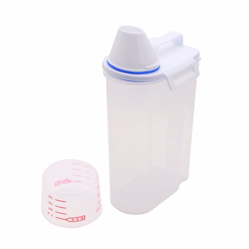 Pet Food Storage Container Dog Cat Pet Dry Food Dispenser With Cup Pet Supplies-in Dog Feeding from Home u0026 Garden on Aliexpress.com | Alibaba Group  sc 1 st  AliExpress.com & Pet Food Storage Container Dog Cat Pet Dry Food Dispenser With Cup ...