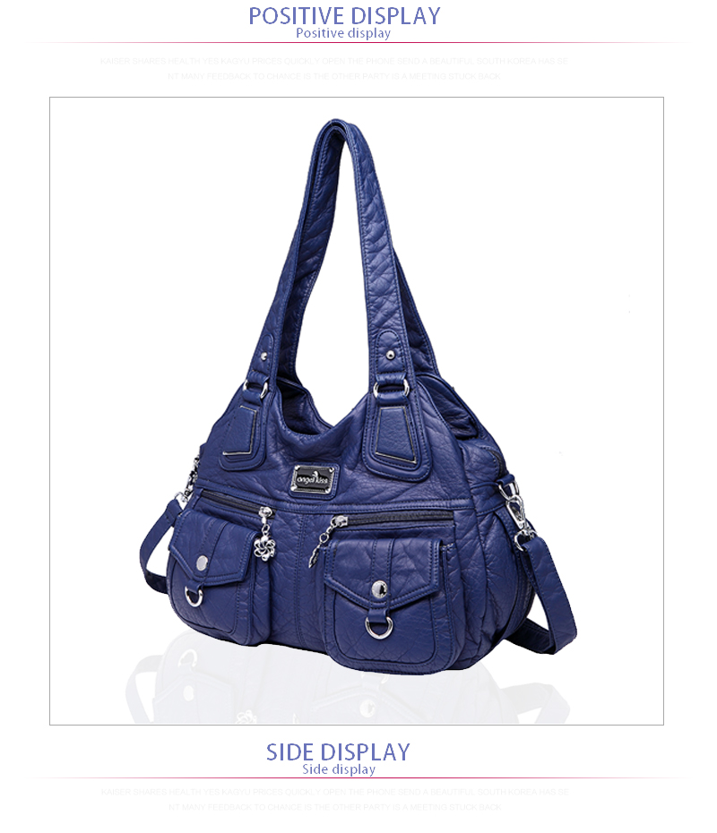 474b36bc5bef Details about Angelkiss Washed PU Handbags Women Shoulder Bag Hobos Handbag  For Woman Tote Bag