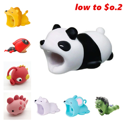 hot cable bite protect Cable Bite panda Protector Animal For Iphone Shark Bite Mobile Phone Connector Accessor kabel diertjes