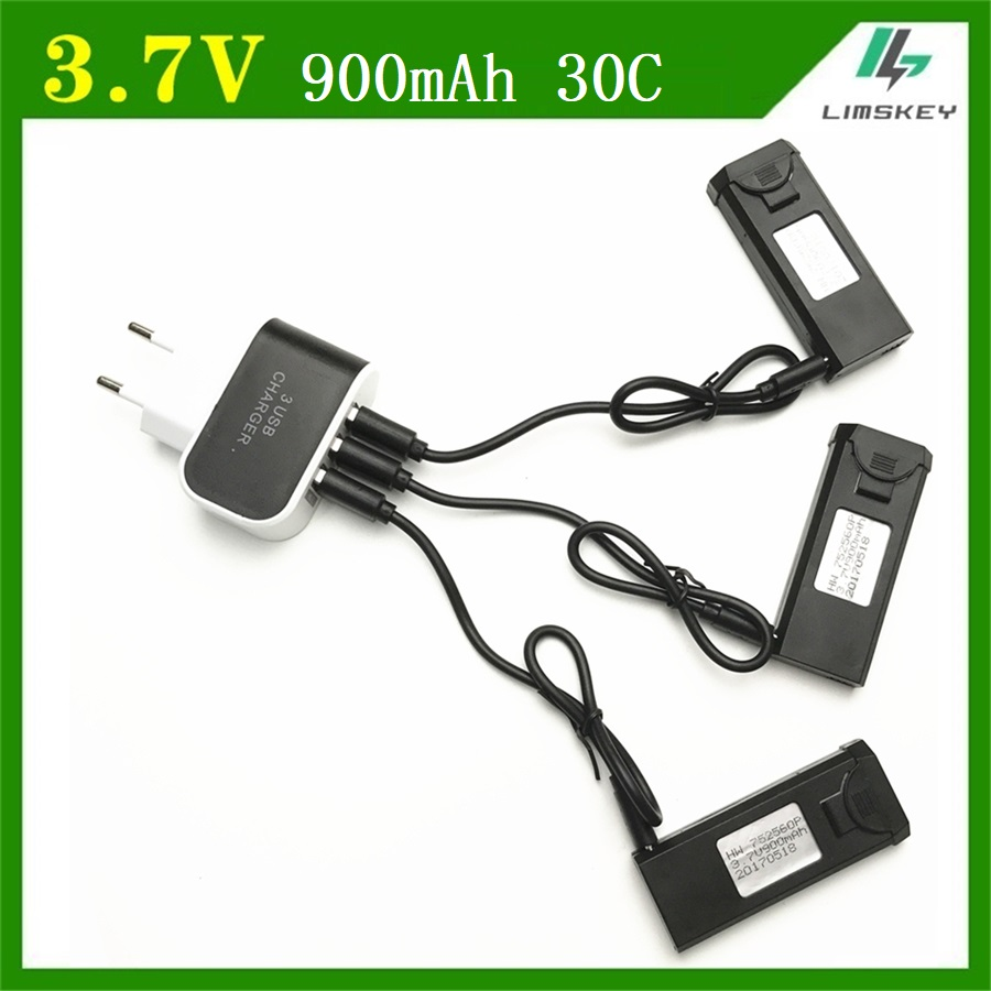 4Pcs/set Original 3.7V 900mAh 30C Lipo Bettery Accessory For VISUO XS809 XS809W XS809HW xs809s Battery new 752560P free shipping