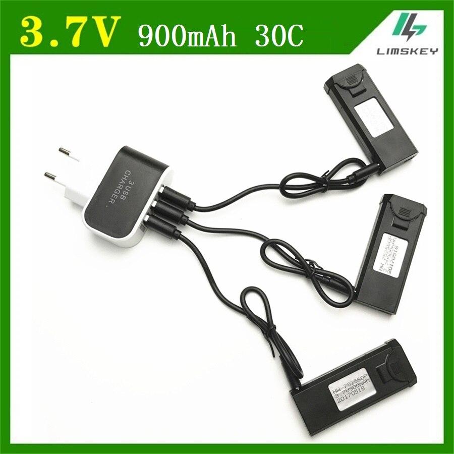 4Pcs/set Original 3.7V 900mAh 30C Lipo Bettery Accessory For VISUO XS809 XS809W XS809HW Battery new 752560P free shipping