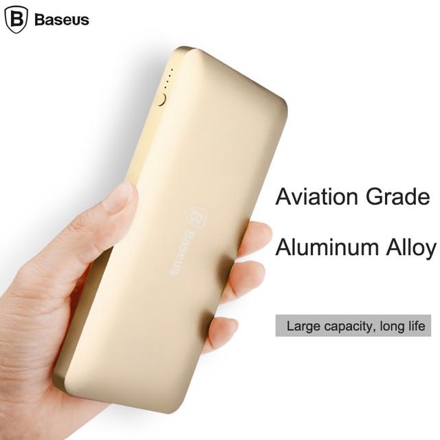 Baseus 10000mAh Dual USB Power bank Portable Mobile Phone Charger Powerbank For iPhone 7 6 6s Xiaomi mi5 Redmi3 External Battery