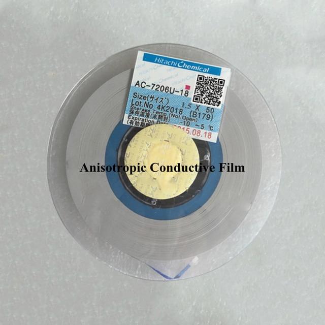 hitachi acf ac 7206u 18 1 5mmx50m anisotropic conductive film rh aliexpress com