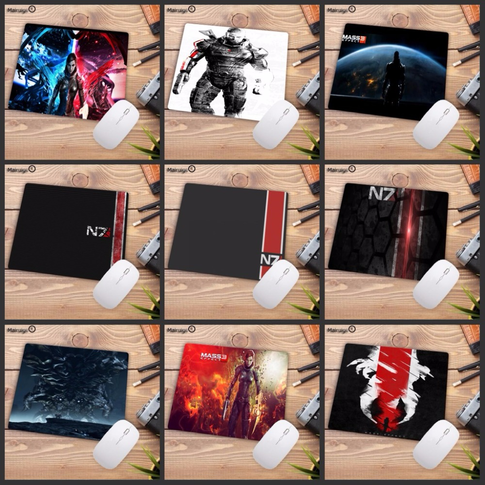 Mairuige 220*180*2MM  High Speed Mass Effect N7 Game Logo Mouse Pad Vintage Stylish  Computer Mice Mat Gaming Rectangle Mousepad