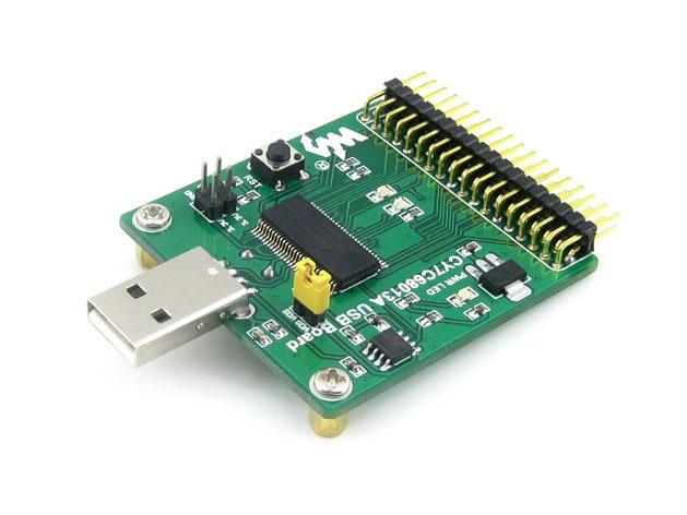 CY7C68013A Board EZ-USB FX2LP CY7C68013A USB Module with Embedded 8051 &24LC64 onboard Type A USB Communication Development Kit