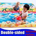 Ребенка двойной сталкиваются пены Играть Мат/Ползать коврики, Коврик для Детей/Пикник Ковер Фруктовые буквы Пляж красоты, толщина 0.5 см