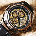 2016 Luxury Brand Watches Men Mechanical Hand-wind Fashion Casual Male Sports Watch Clock Full Steel Military Wristwatches