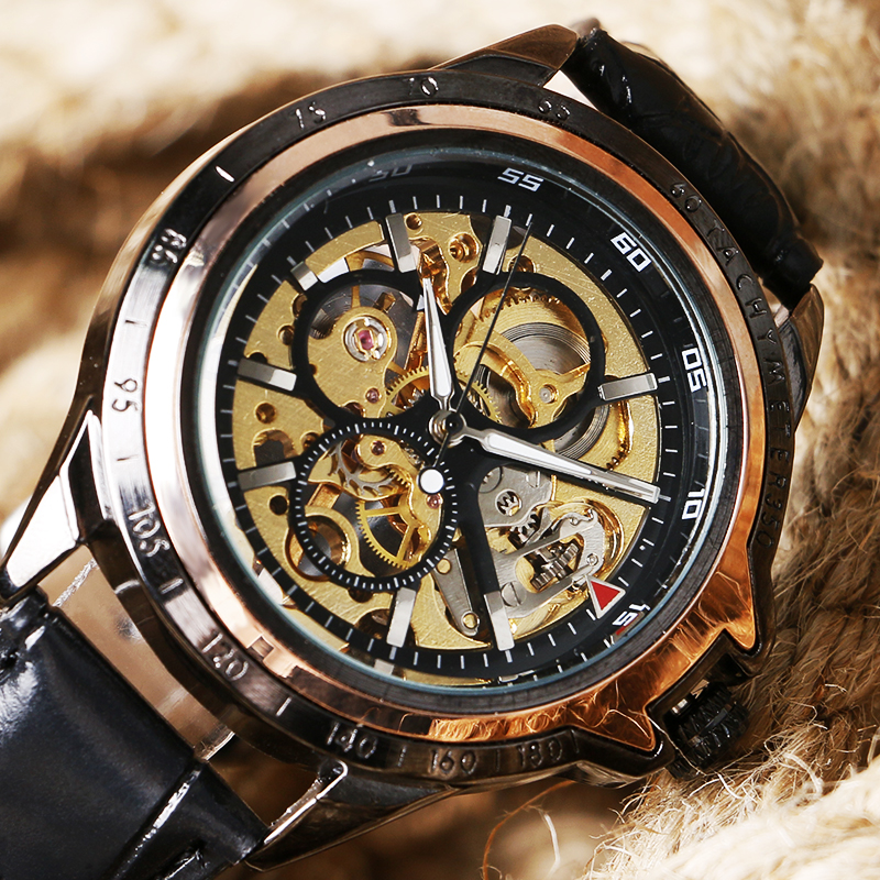 2017 Luxury Brand Watches Men Mechanical Hand-wind Fashion Casual Male Sports Watch Clock Full Steel Military Wristwatches купить в Москве 2019