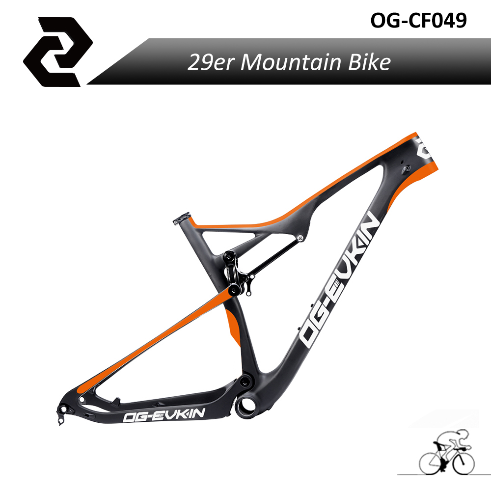 2017 New Arrival Full Suspension Toray Carbon Fiber MTB Mountain Bike Frameset 29ER for Thru Axle Bicicleta Bicycle Travel 110MM стоимость