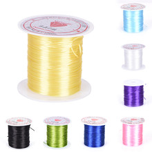 Round Beading Wire/Cord/String/Thread Jewelry Making 0.8mm Crystal Bead Stretch Cord Elastic Line Transparen Clear Component(China)