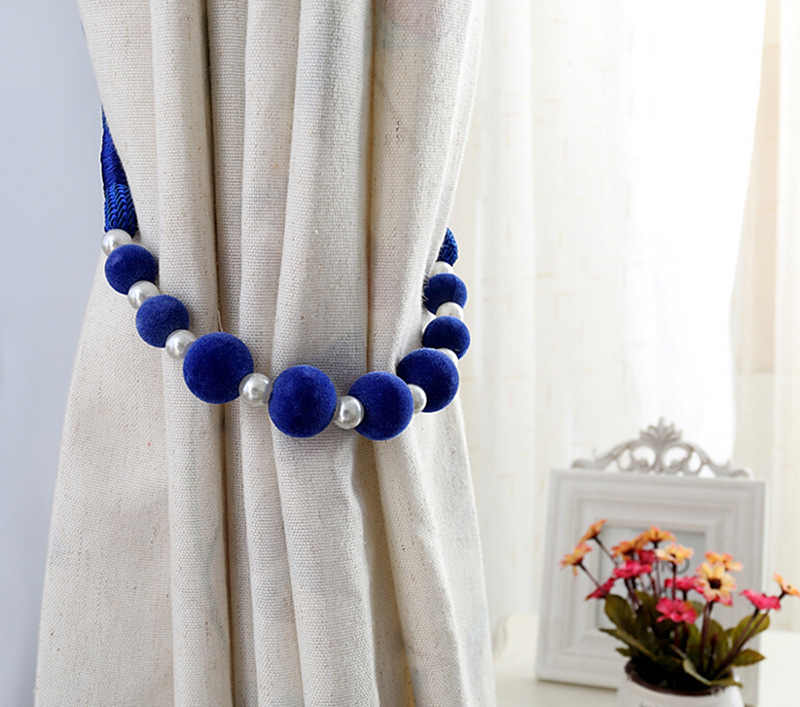 Curtain Accessories Curtain Binding Cord Curtain Hanging Velvet Bead Binding Rope