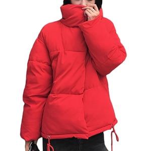 Image 4 - New Women Winter Coat Female Warm Down cotton jacket Womens Korean Bread service Wadded Jackets parkas Female jacket coats A941