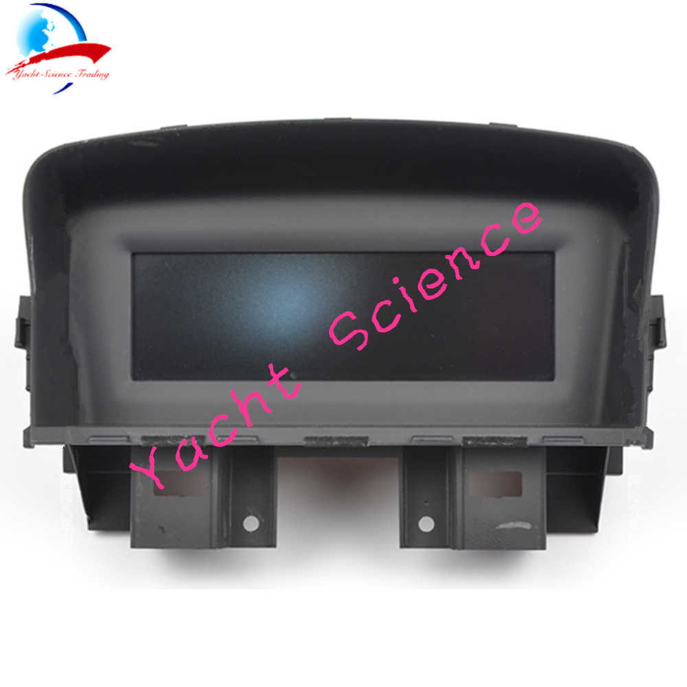 8 Pin araba Iceblue ön gezisi bilgisayar ekranı ekran radyo CD çalar Air-Con bilgi LCD monitör ekran için CHEVROLET CRUZE 9004441