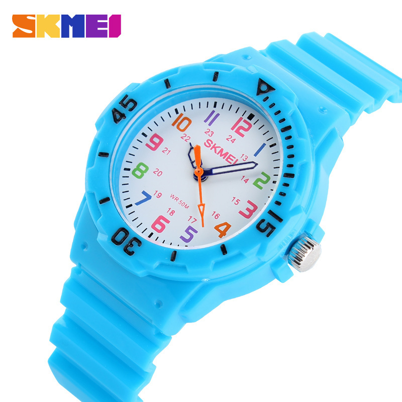 New Skmei Cute Kid Children Watch Fashion Casual Watches Quartz Waterproof Time Clock Hours Wrist Watch For Boys Girls Students 3d eye despicable me minion cartoon watch precious milk dad cute children clock baby kid quartz wrist watches for girls boys
