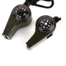 Маунчейн 3 в 1 для походов, кемпинга, экстренного выживания, снаряжение, свисток с компасом и термометром для улицы, аварийное снаряжение, дорожные комплекты