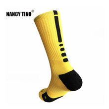 NANCY TINO Men Quick-Dry Sport Socks Outdoor Long Coolmax Sock Male Breathable Athletic Racing Cycling Basketball