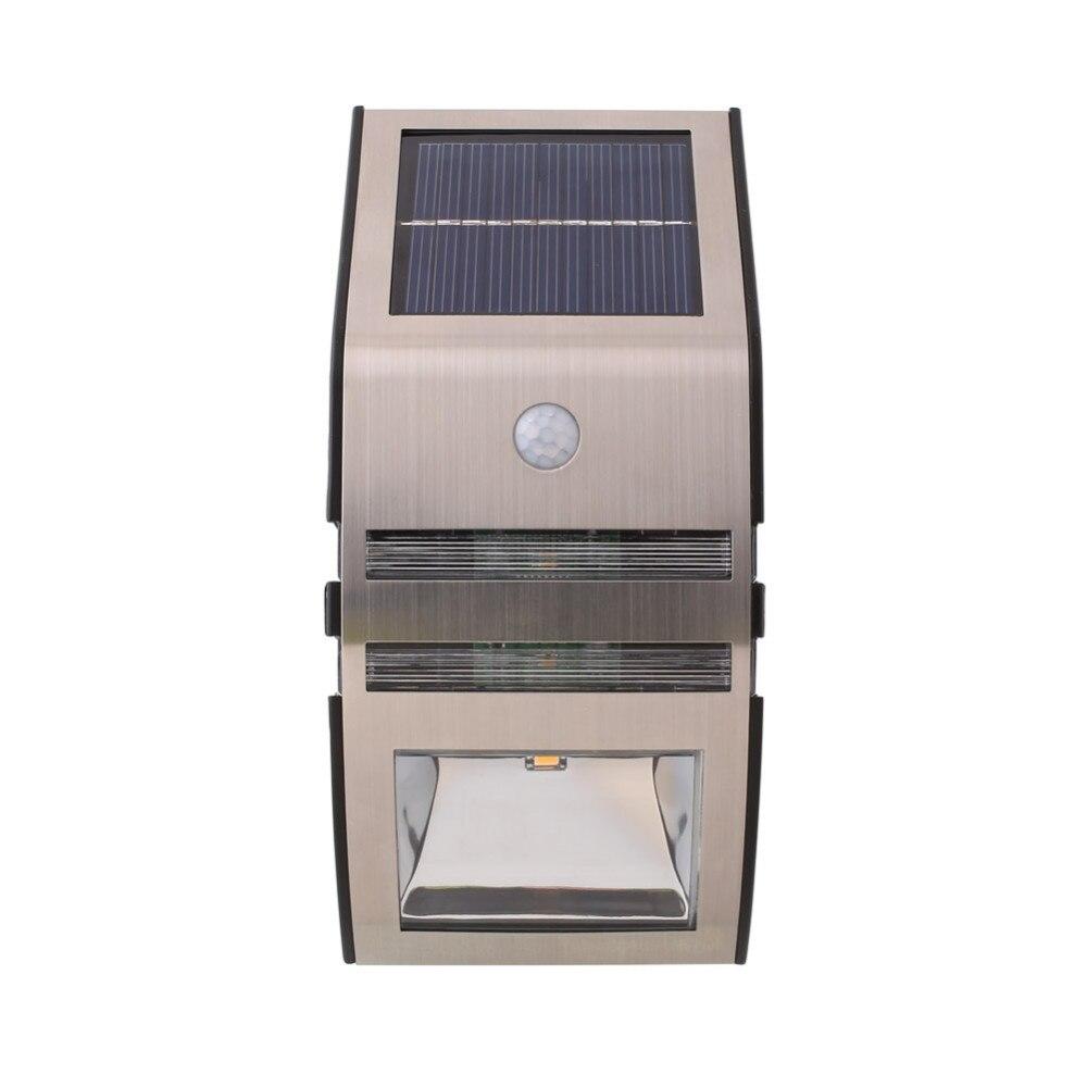 2 LED Outdoor Solar Powerd Wireless Waterproof Security Motion Sensor Night  Light For Patio, Deck