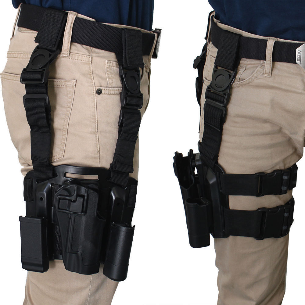 Tactical Military Right Leg Paddle Belt Thigh Hand Drop Holster for 1911 military pistol drop leg thigh holster left right with belt hand gun quick release magazine pouch