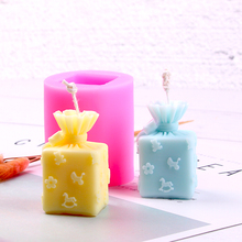 Handmade Candle Mold Soap Mould Creative Polymer Clay Molds Gifts Box Form Silicone