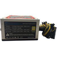 600W Power Supply 600WPC Computer Power Supply Computer PC CPU Power Supply 20+4 pin 120mm Fans ATX PCIE w/ SATA LED Lighting