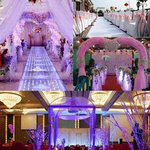 Image 5 - 5 Meter * 48 Cm Sheer Crystal Organza Tulle Roll Stof Gaas Voor Bruiloft Decoratie Diy Bogen Stoel Sjerpen Baby douche Levert 7