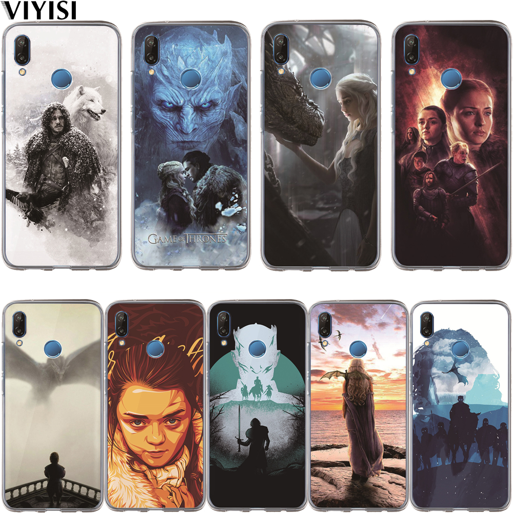Game Thrones Daenerys Dragon Jon Snow Tyrion Lannister Case For Huawei P30 P20 Mate 20 Pro 9 P10 Lite Coque Silicone TPU Cover image