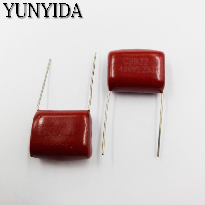 10PCS CBB 105J 400V CL21 1UF 1000NF P20 Metallized Film Capacitor