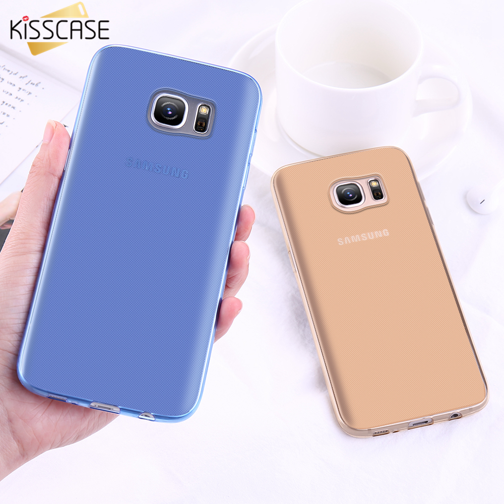 KISSCASE Soft TPU Phone Case For Samsung S7 S7 Edge Cases Ultra Thin Transparent Cover For Samsung Galaxy S6 Edge Plus Note 5