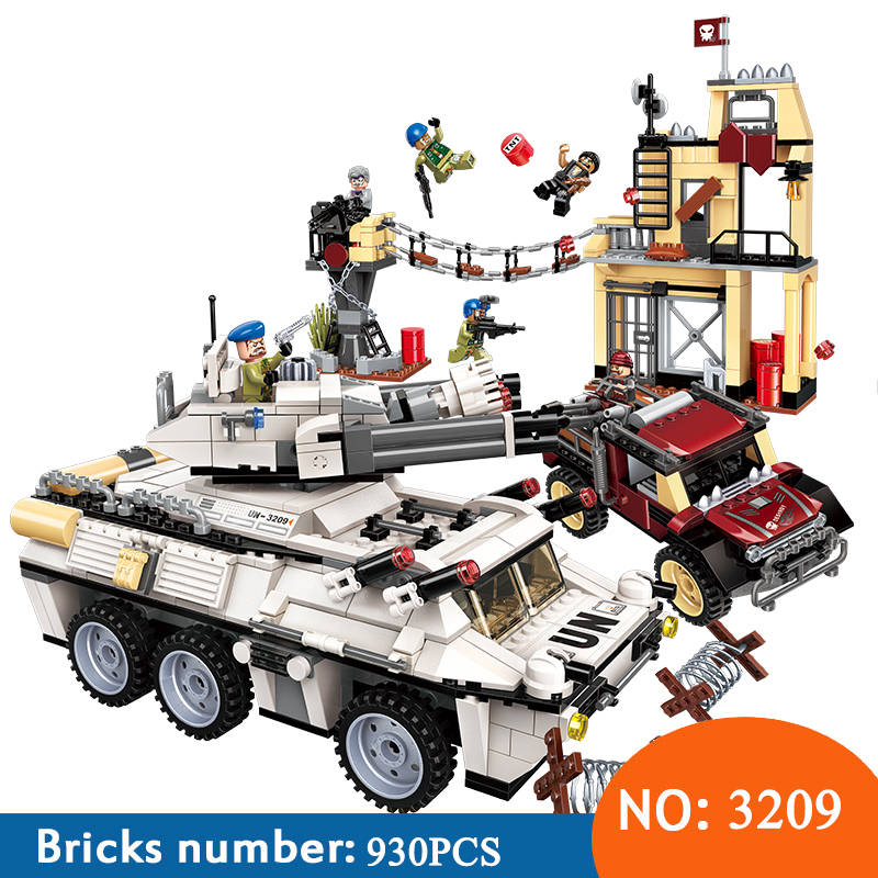 Enlighten 3209 935pcs Military War City Thunder Mission Cannon Tank Armored Car Building Blocks Toys For ChildrenEnlighten 3209 935pcs Military War City Thunder Mission Cannon Tank Armored Car Building Blocks Toys For Children