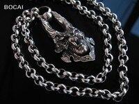 Hand made S925 pure silver garo fairleadof pendant syncronisation necklace