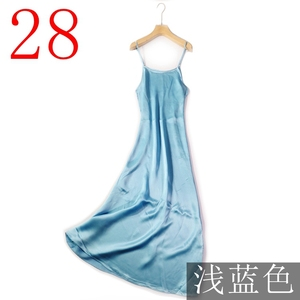 Image 5 - Verlena vestido de verano de talla grande de seda, 100%, negro, largo, sin mangas, tirantes, 2019 cm