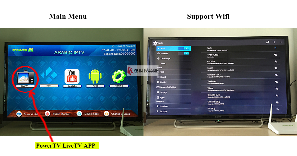 Arabic iptv box free tv, PowerTV X6, no monthly fee arab