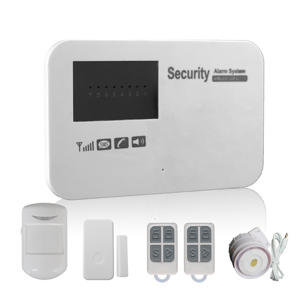Dual Network Intelligent Anti-Theft Alarm Wireless LCD Screen Home Security Alarm System  Home Intelligent Anti-Theft Alarm hzsecurity electromagnetic system em library anti theft system one aisle