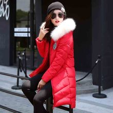manteau femme winter jacket women down coat abrigos y chaquetas coats 2016 fur long fashion parka womens jackets and for black