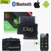 2020 Original JDiag FasLink M2 Bluetooth 4.0 Auto OBD2 Code Reader Tool connect phone work for ios Android car code scanner tool