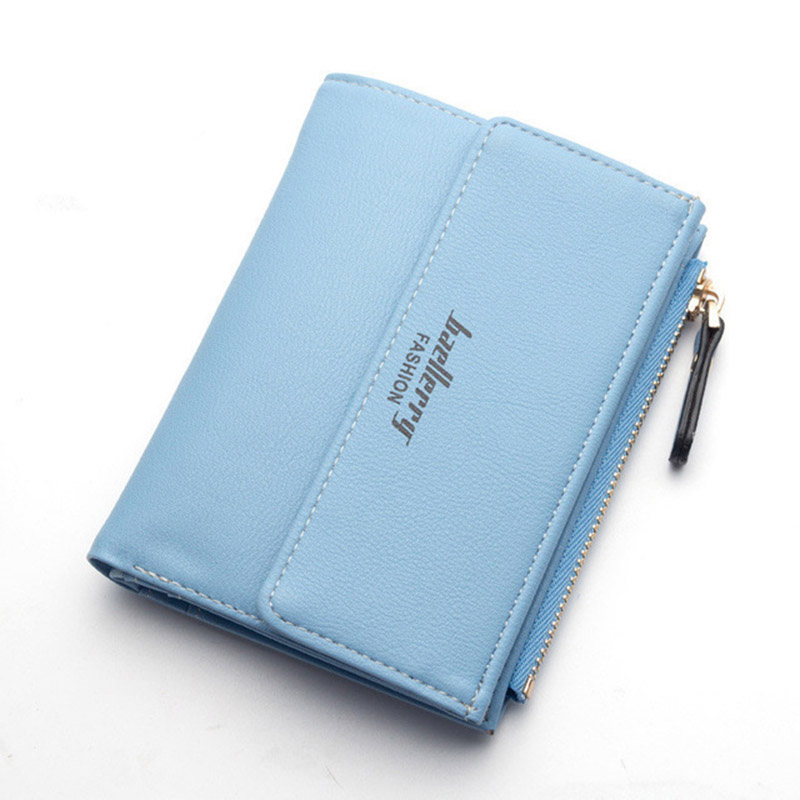 High Quality PU Leather Wallets Women Lovely Letter Printing Zipper & Clasp Coin Pocket Short Purse Clutch Wallet Female W071