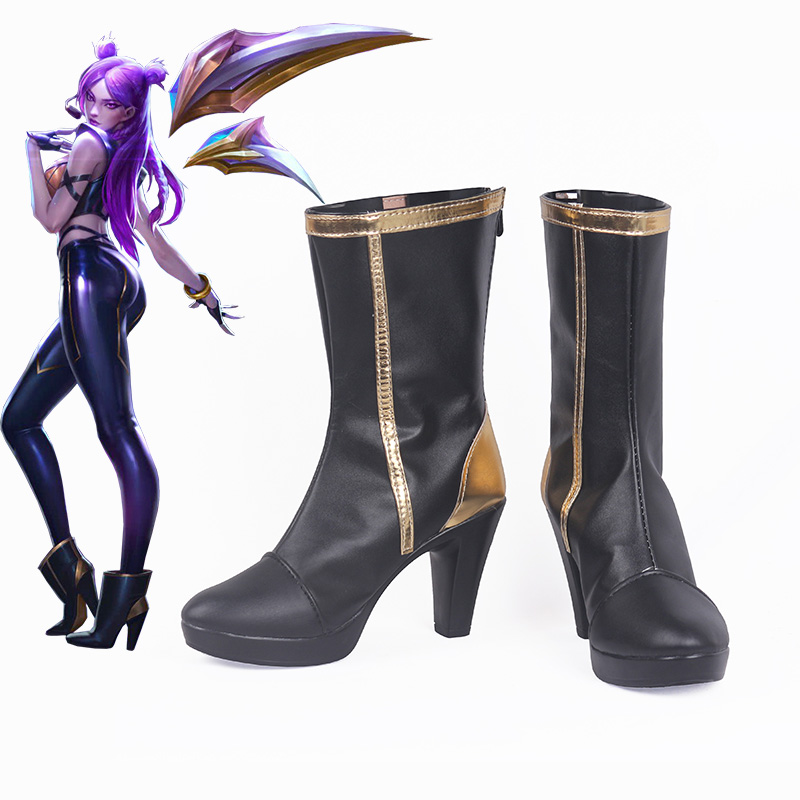 Game LOL K DA Kai Sa Kaisa Cosplay Shoes Cosplay High Heeled Shoes for Women Evelynn