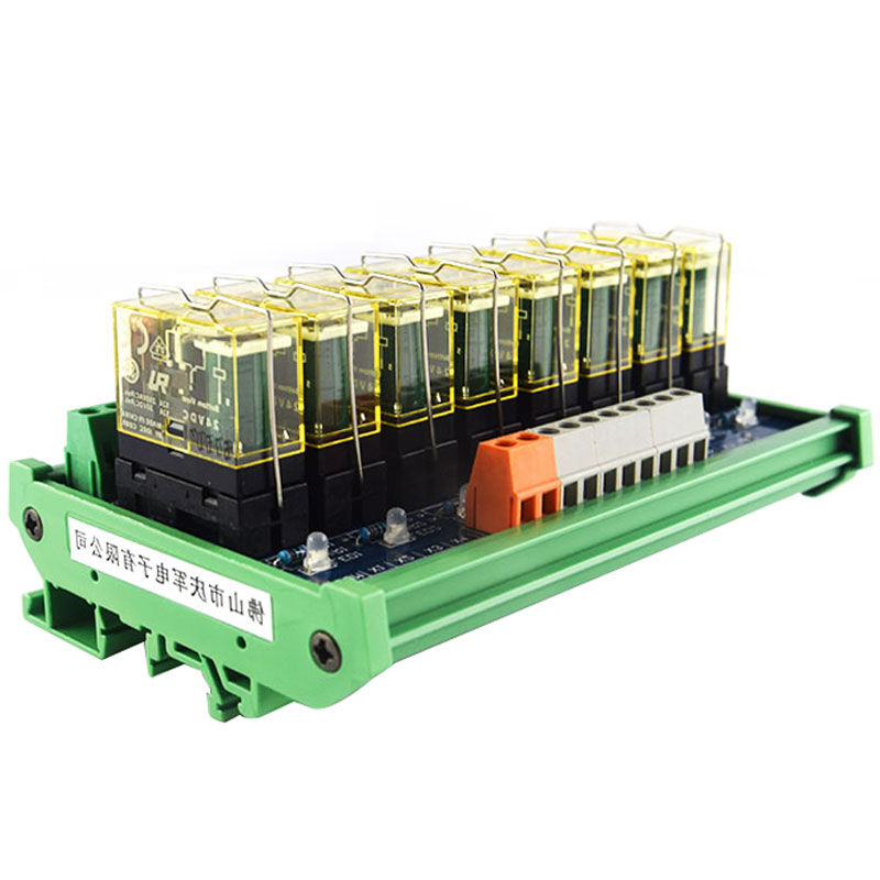 Relay single-group module 8-way compatible NPN/PNP signal output PLC driver board control board l175d l174d driver board 491641300100r ilif 092 signal board used disassemble