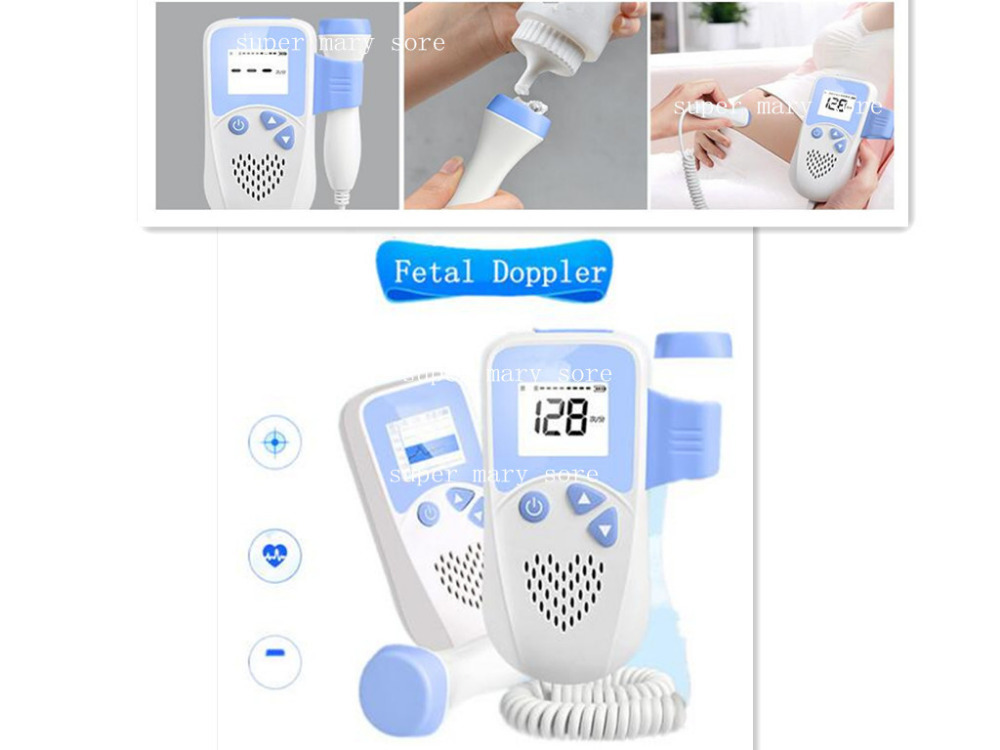 Pocket fetal doppler,Prenatal Baby Heart Beat Monitor LCD Display Fetal Doppler Monitor For Pregnant Women fetal heart doppler pocket prenatal heart baby sound monitor 3mhz probe with color lcd display