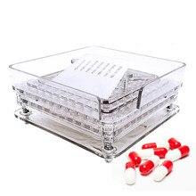 100 agujeros máquina de llenado Manual de cápsulas #0 Placa de llenado manual de cápsulas