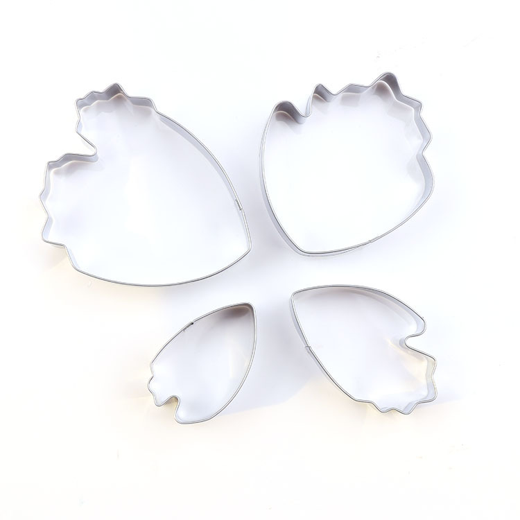 4pcs lot Fondant Cake Decoration Floral Petal Petals Cutter Flower Mold Peony Stainless Steel Cake Decorating Tools LB 386 in Cake Molds from Home Garden