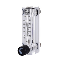 LZT 6T 10 100 SCFH 5 50LPM Square Panel Type Gas Flowmeter Air Flow Meter rotameter