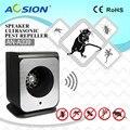 Aosion pragas rejeitar em casa produto único preto speaker ultrasonic rato rato ratos repeller pest rejeitar repelente AN-A339