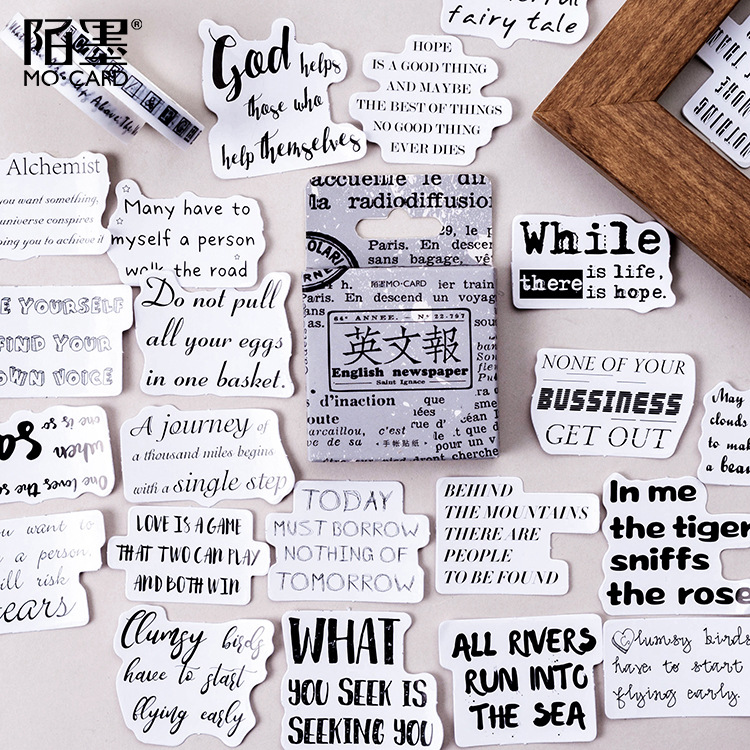 45 Pcs/pack Vintage Newspaper Paper Stickers Diary Decoration Diy Scrapbooking Label Seal Sticker St