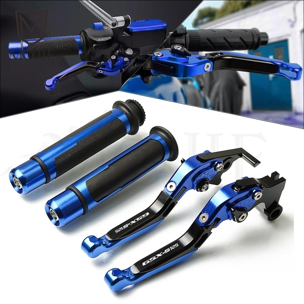 Motorcycle CNC Adjustable Brake Clutch Levers Handlebar Hand Grips For Suzuki GSX S125 GSXS125 GSX S GSXS 125 2017 2019 2018