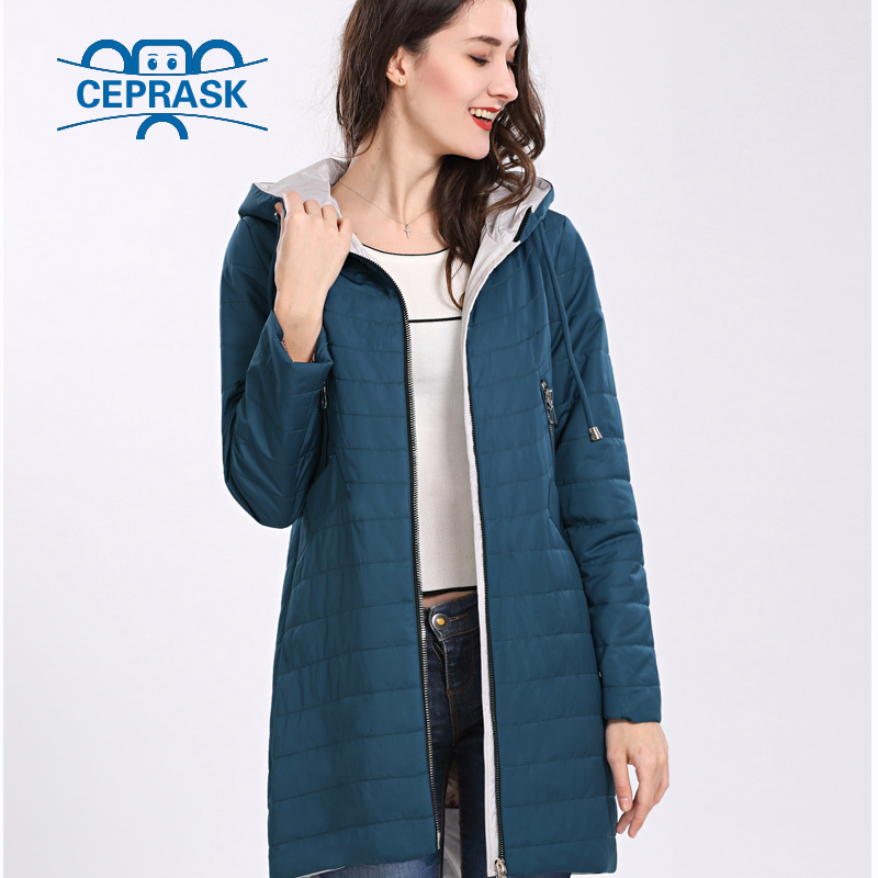 3c21a1a2d03 2018 New High Quality Women s Coat Spring Autum Windproof Thin Women Parka  Long Plus Size Hooded Warm Cotton Jackets CEPRASK-in Parkas from Women s  Clothing ...
