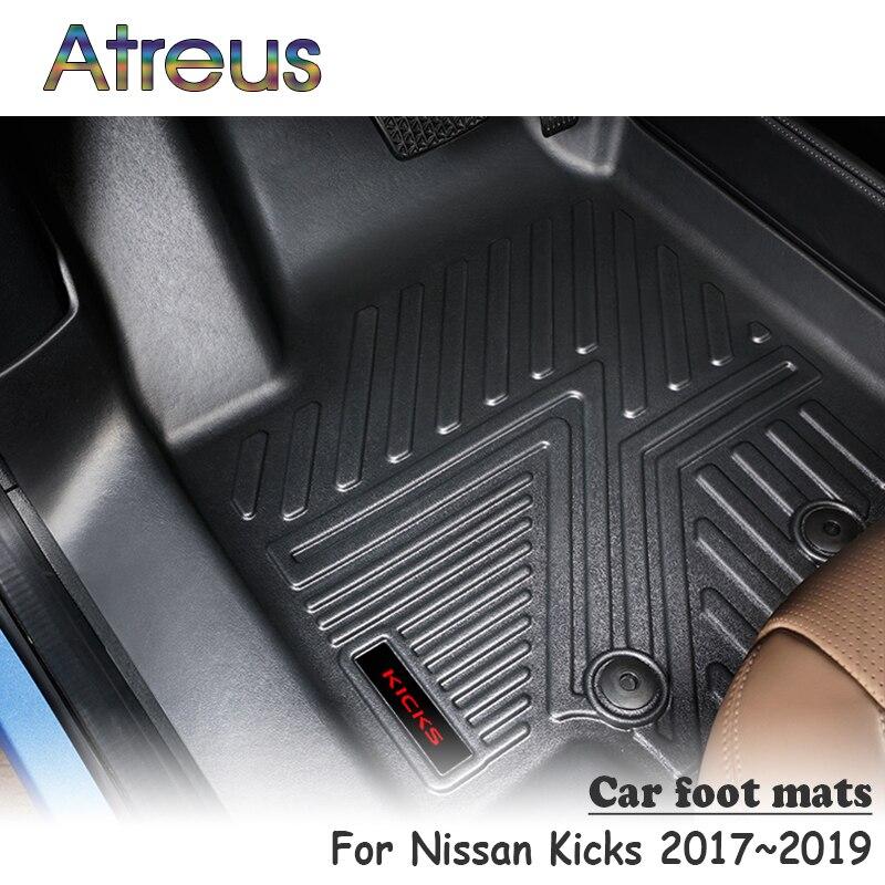 Atreus Новый 1 комплект TPE автомобильный напольный коврик для Nissan Kicks 2017 2018 2019 автомобильный стильный значок лайнер аксессуары водонепроницаем