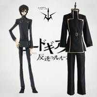 Free shipping Code Geass Anime Cosplay Lelouch Lamperouge Cartoon Cos Halloween Cosplay Costume top+pants+belt