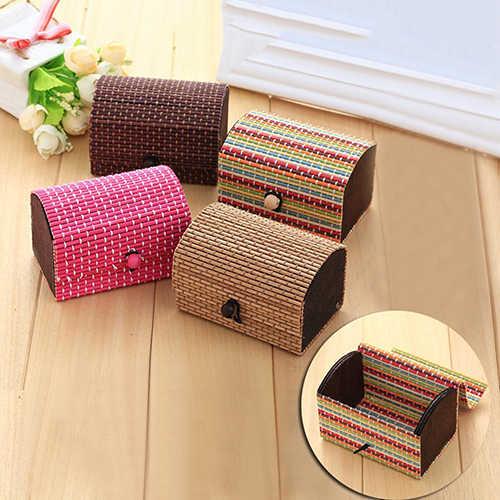 ¡POP tema! Caja creativa de madera de bambú de alta capacidad caja bonita para joyería organizador de almacenamiento