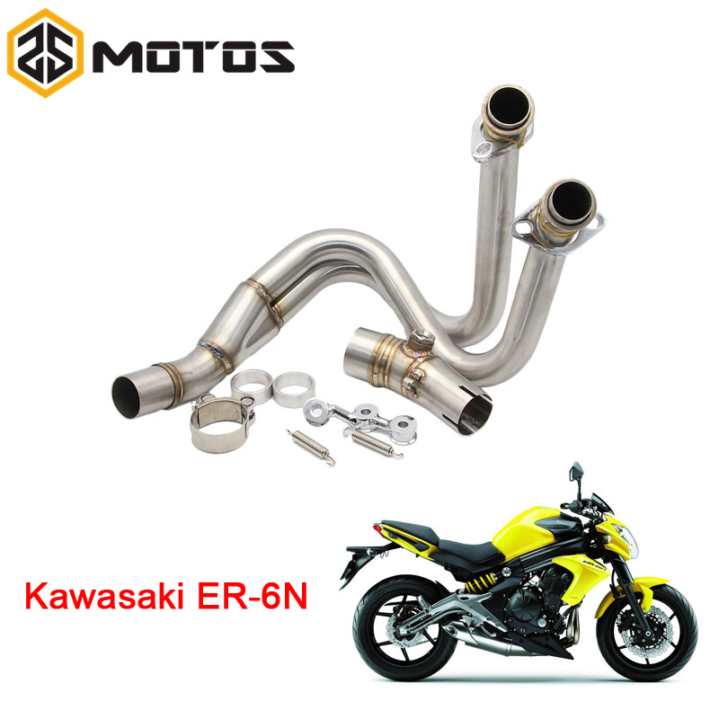 ЗС мотоциклы модифицированный мотоцикл среднего выхлопной трубы Подключение трубы Чехол для Kawasaki ER6N